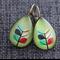 Danish Leaf Design ~ Teardrop Lever Back Earrings