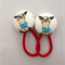 23mm Chihuahua fabric button hairties
