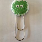 Alien Button Paperclip Bookmark