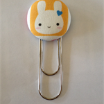 Cute Bunny Button Paperclip Bookmark