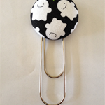 Ghost Button Paperclip Bookmark
