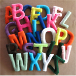 Wall Letters, Fabric Alphabet, Nursery Letters, Felt Letter, Name Banner