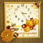 Wall Clock, Baby Shower Gift Nursery Art, Yellow White Toy Duck, Newborn Baby