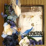 Modern Wall Clock, Blue Angel Wall Art Bedroom Decor, Paris Burlesque Decor
