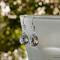 Swarovski crystal drops, Sterling Silver, earring