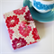 Tea Bag Wallet - Pink Flowers with Dots on White