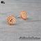 Orange with White Spots Button - Stud Earrings