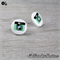 CAMERA  - Buttons - Button Stud Earrings - Green - Photograph