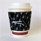 Coffee Cup Cuff - Black & White Monochrome Dots & Lines