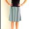 Black and Mint Geo Print Women's Skirt