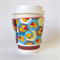 Coffee Cup Cuff - Bright Honeycomb Triangle Hexagons