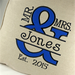 Wedding Cushion/Pillow Cover, Mr and Mrs Pillow  Anniversary Gift Bridal Gift.