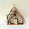 RUSTIC BIRDHOUSE CAGE Assemblage Mixed Media and Found Objects