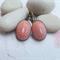 Orange Mosaic Earrings - antique bronze