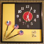Modern Wall Clock, Unique Wall Art Decor, Mens Dart Set Gift, Nchanted Gifts