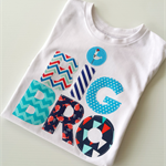Big Brother Tshirt Custom Colours Boys tshirt nautical Theme