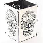 Sugar Skull, White Sugar Skull Light Box, Candle Box, Candle Holder, Day Of the