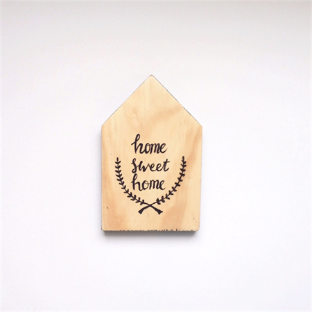 Wooden house typography hand lettering quote wood sign decor nursery  decoration