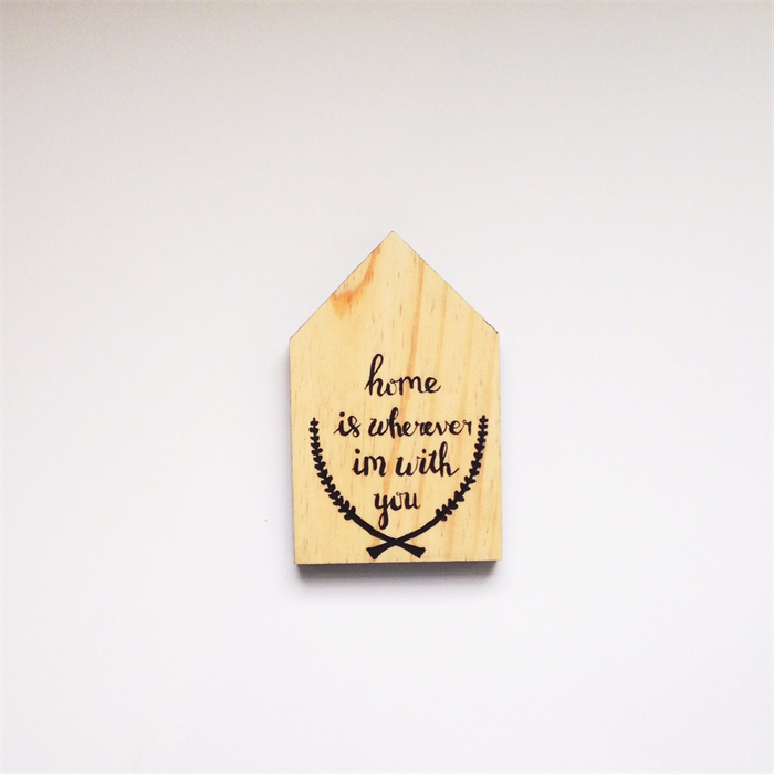 Wooden House Typography Hand Lettering Quote Wood Sign Decor Decoration Run Wild Horses On Madeit
