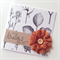 Grateful thank you botanical paper mocha brown burlap flower friend her card