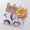 Botanical paper yellow burlap flower celebrate your day for her friend card