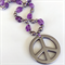 Amethyst and Hematie Peace Necklace
