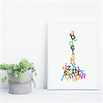 Alphabet Jumble Print - Colour
