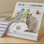 Qty 3 Desk Calendars 2016 - Australian threatened species - animals birds