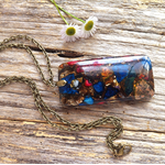 Sea Sediment & Bronzite Gemstone Pendant