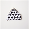 CROSS positive monochrome modern geometric hand printed coin purse clutch