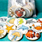 Sea creatures wooden memory match game - sea animals concentration game
