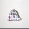 ANATOMICAL HEART neon monochrome modern geometric hand printed coin purse clutch