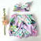 Lilac Floral Spring shorties Bloomers and Topknot - headwrap, baby, girl