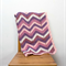 pink, purple, cream zig-zag, chevron, crochet blanket, wool, acrylic, bedding