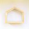 Little HOUSE wood pine wooden shadow box shelf