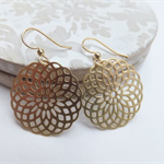 14k Gold Mandara Pendant Earrings