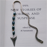 Black and Green Bead Bookmark with Shark Tooth Charm