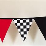 Boys Racing Car Grand Prix Fabric Bunting Flags.