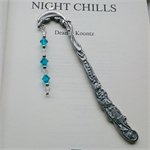 Blue Zircon and Crystal Swarovski Dolphin Bookmark