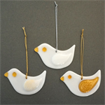 Single fused glass dove – Christmas decoration