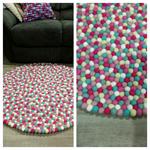 100cm felt ball rug