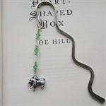 Peridot Swarovski Leo Charm Bookmark