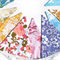 Vintage Retro Pretty Multi-Colour Floral Flag Bunting. Party, Home Decoration