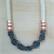 Charcoal & Copper TwistKnot Necklace