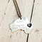 Hand Stamped Personalised Australia cut out in Sterling Silver. home, travel