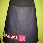 Denim Scooter Skirt with Bamboo Stretch Waist