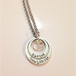 My World Globe Family  Love Personalised Hand Stamped Double Silver Necklace