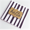 Black white monochrome stripes gold glitter hello her him general friend card