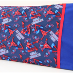 Wall-Crawler Pillowcase ~ Navy & Red