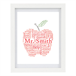 Teachers Print, Apple Print, Appreciation Gift, Gift For Teacher, 8 x 10 Print